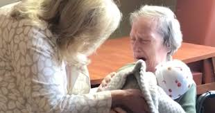 Kind Women Deliver Baby Dolls To Elderly Dementia Alzheimers
