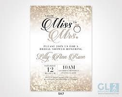 Miss To Mrs Champagne Bridal Shower Invitation
