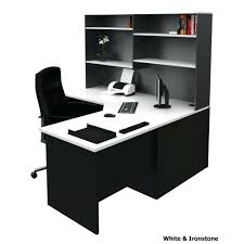Black Gloss Corner Computer Desk by Office Desk White Office Corner Desk 6 Piece In Or Black Finish