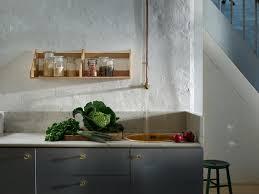küche ohne oberschränke lässig minimalistisch schöner