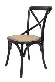 Brody X back chair in black wash by Forty West designs