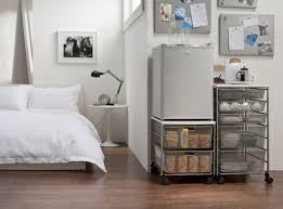 Elevating The Mini Fridge Makes A Lot Of Sense Can Store Less Used Items Underneath Elfa Kitchen For Your Room Available At Howards Storage World