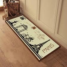 French Country Kitchen Decor With Eifel Tower Printed Doormat La Bruschetta Comfort Mat