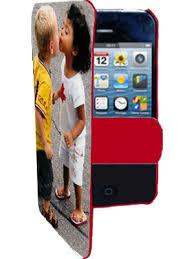 etui photo iphone 4 4s à clapet bord à personnaliser