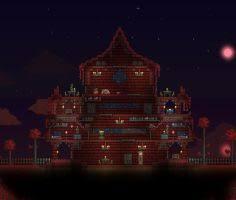Terraria Crimson Tower Floating Island by XploSlime7