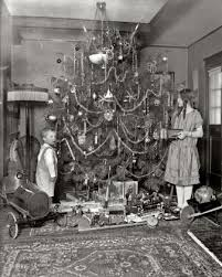Early 1920s Christmas tree and putz Anything 20 s