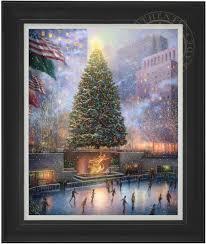 Mountain King Brand Christmas Trees by Christmas In New York U2013 Limited Edition Art The Thomas Kinkade