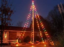 22 Flagpole Christmas Tree Impressive Best Portray String White Lights From Branches Of