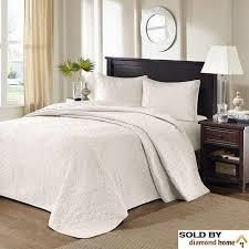 Oversized King Bedspread Floor Set Solid Ivory Cream Warm Tone 120