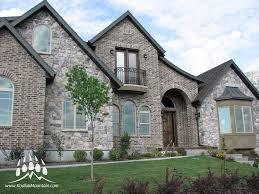 100 Fieldstone Houses Cut Color Quarry Combined With Brick Kodiak Mountain