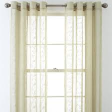 Jcpenney Sheer Grommet Curtains jcpenney home ingals grommet top sheer panel jcpenney