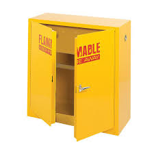 Flammable Liquid Storage Cabinet Requirements by Sandusky 44 In H X 43 In W X 18 In D Steel Freestanding