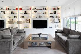Wall Display Cabinet Design Family Room Contemporary With Built In