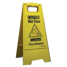 Caution Wet Floor Banana Sign by 18