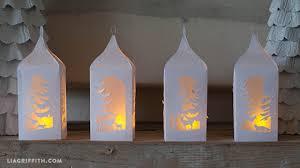 Paper Lanterns Winter Holiday DIY Lantern PDF SVG