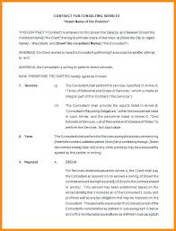 Free Consultant Contract Template Sample Consulting Maker Cone