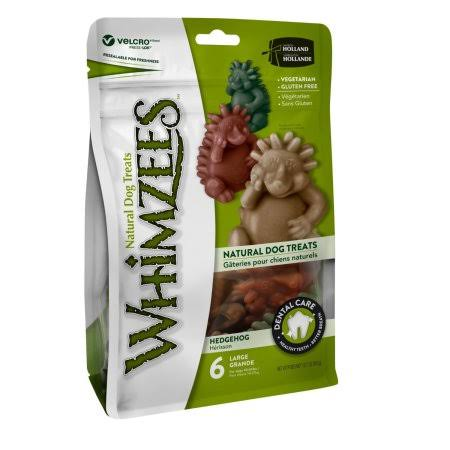 Whimzees Hedgehog Dental Dog Treats - Large, x6