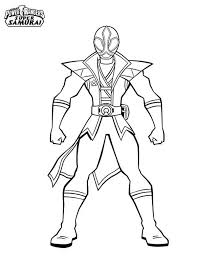Amazing Red Ranger In Power Rangers Super Samurai Coloring Page