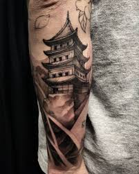 Pagoda On Outer Forearm