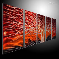 Cheap Abstract Wall Art 5 Modern Sculpture Metal Base Cool Interior Design Painting Outdoor Home Decoration