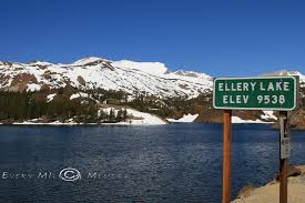 Ellery Lake With Snow Capped Mountains Feeding The Water
