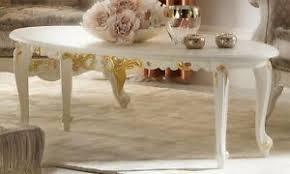 details zu couchtisch wohnzimmertisch beistelltisch oval massivholz beige barock klassisch