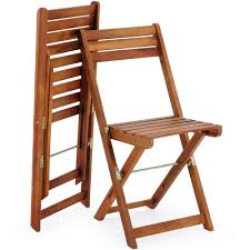 Details About Wooden Furniture Set Balcony Patio Folding Table Chairs  Camping Outdoor