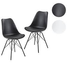 finebuy esszimmerstuhl 2er set küchenstuhl kunststoff skandinavisches design schalenstuhl mit kunstleder bezug polsterstuhl stuhl gepolstert