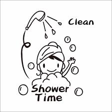 Funny Bathroom Door Art by Funny Pvc Waterproof Baby U0027s Shower Time Wall Stickers Bathroom