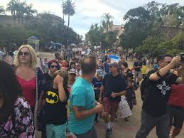 Balboa Park Halloween by More Than A Thousand Protest Trump In Balboa Park Kpbs