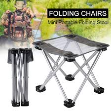 Mini Portable Folding Stool,Folding Camping Stool, Outdoor Folding Chair  For BBQ,Camping,Fishing,Travel,Hiking,Garden,Beach,Oxford Cloth Seat With  ...