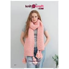 Free Pattern Knitcraft Hug It Out Chunky Scarf 0045 Hobbycraft