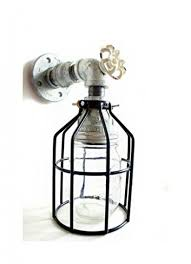 industrial wall sconce galvanized pipe lighting w jar for