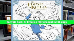 PDF Download The Legend Of Korra Coloring Book Avatar Last Airbender Free