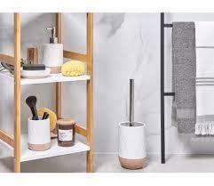 badezimmer set 4 teilig keramik weiß beige lebu