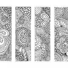 Indonesian Batik Bookmarks Coloring Pages