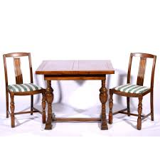 1940s Oak Dining Suite Comprising Draw-leaf Table, Chairs An