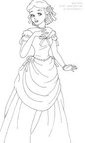 Snow White Deluxe Gown Lineart By LadyAmber On DeviantArt Adult ColoringColoring BooksDisney PrincessesPrincess