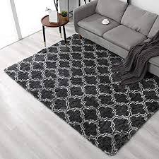 arnty teppich wohnzimmer grau groß hochflor teppiche wohnzimmerteppich modern weicher carpet living room rug shaggy tepiche für