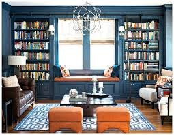 Blue Living Room Ideas In Built Bookcases