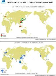 monde grands ports carte populationdata net
