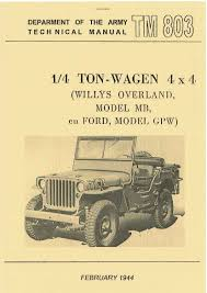 100 Willys Truck Parts TM 101206 US PARTS LIST FOR WILLYS MB PAPERPRINT WWII MILITARY