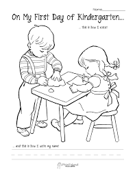 Lovely First Day Of Kindergarten Coloring Page 11 About Remodel Pages For Adults With