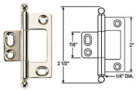 Non Mortise Cabinet Door Hinges by Cliffside Bh2a Nm Pn Ball Adjustable Solid Brass 2