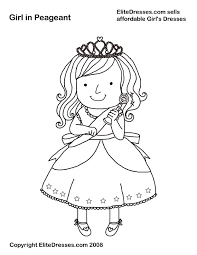 Girl In Pageant Dress
