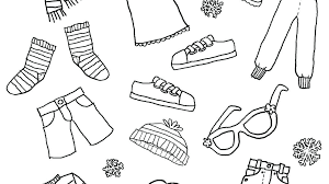 Clothes Coloring Page Kids Pages Unparalleled Of Winter Clothing Free