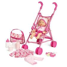 kid connection baby doll stroller play set walmart com