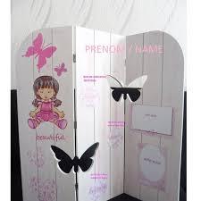 paravent chambre fille cadre photo naissance porte photo décoration fille bébé