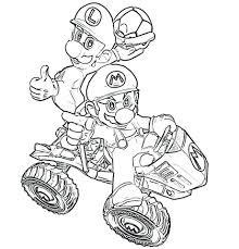 Coloring Pages Mario Pictures To Print Kart Super Galaxy Sheets Out