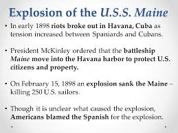 Sinking Of The Uss Maine Apush by U S Imperialism Apush Day 61 Feb 10 Ppt Download